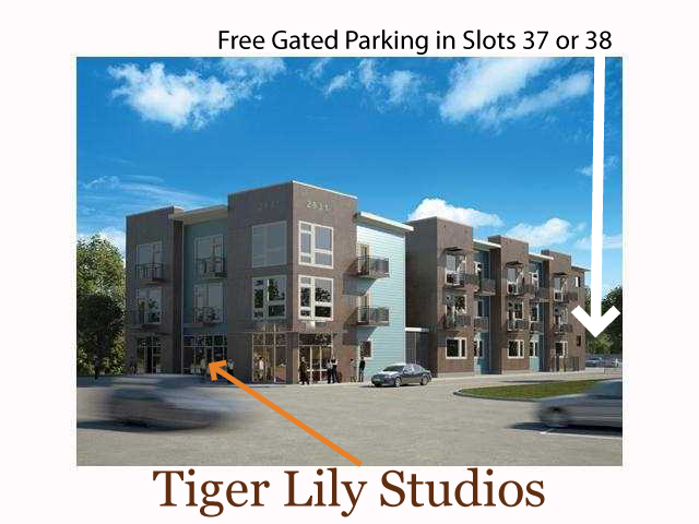 Exterior view of Tiger Lily Studios at 2931 East 12th Street, #101